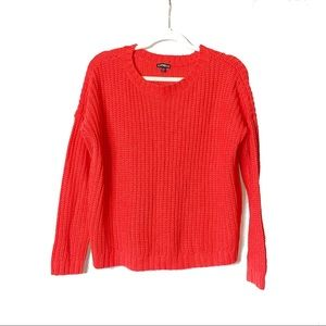 Express | Red Chunky Cable Crewneck Sweater | S